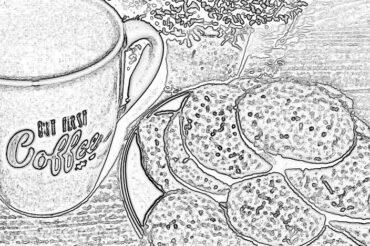 Ciastka różano-lawendowe