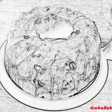 Prosta cytrynowa babka drożdżowa